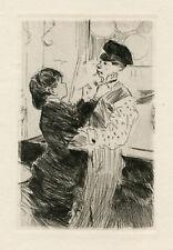 "Jean Forain ""L'Ambulante"" original etching 1880 EDITION"
