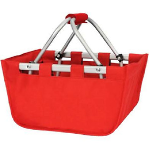 Viv & Lou Mini Red Market Tote ~ New with Tags (Blank - Not Monotgrammed)