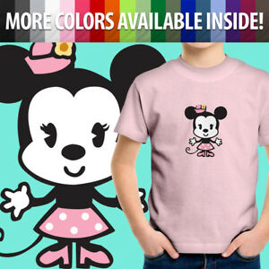 Unisex Kids Tee Youth T-Shirt Graphics Cuties Minnie Mouse Kawaii Cartoon Sweet
