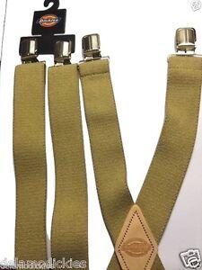 Dickies Men's 32mm WIde Work Suspender with X back 21DI5100 Khaki