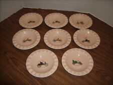 Royal China Inc. Ice Cream - Dessert Dish Set of 8 Vintage Auto Design Made USA