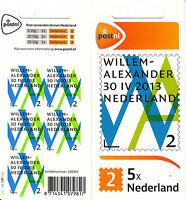 Netherlands Nederland 2013 MNH King Willem-Alexander Inauguration 5v S/A Sheet