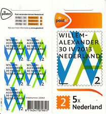 Netherlands Nederland 2013 MNH King Willem-Alexander Inauguration 5v S/A Sheet