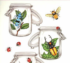 Miss Elizabeth clear stickers-Bugs. Bugs in jars and every where!