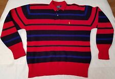 Polo Ralph Lauren lambswool striped sweater unisex sz L