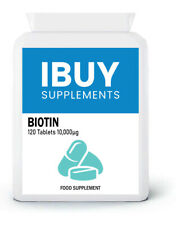 Biotin Tablets 10,000mcg Hair Growth Nail Skin Vitamin B7 120 Pills