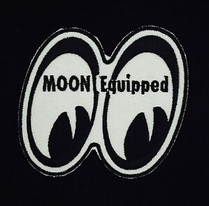 """Racing MOON Equipped Vintage Embroidered Iron On Patch (NOS) 3"""" x 3"""" RARE MINT"""