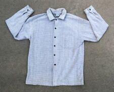 Anchor Blue Men's Vintage 90s Soft Fuzzy Flannel Button Down Shirt | Large