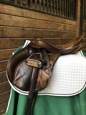 Bates Caprilli 18� Close Contact Eventing Monoflap Brown Saddle Girth & Pads