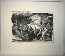 """Prentiss Taylor (1907-1991) Lithograph Title """"In Whom I Am Well Pleased"""" 1 of 35"""