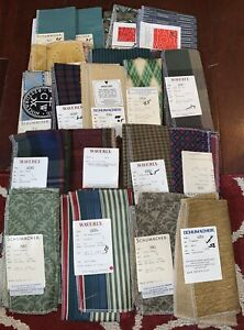 Upholstery Fabric Samples Swatches Mixed Lot about 9 Pounds Shumacher Waverly #3