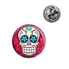 Sugar Skull Lapel Hat Tie Pin Tack