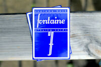 Blue Fontaine Playing Cards