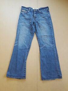 Ben Sherman Men's Blue Straight Leg Zip Button Up Jeans Size W34 L32