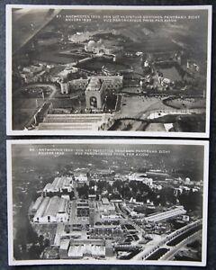2x 1930 Exhibition Exposition Antwerp - Anvers Postcard Carte Postale Belgium