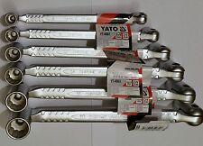 6pc YATO BI HEX FLEXI SWIVEL DOUBLE HEAD SOCKET SPANNER SET OF 12 SIZES 8-19mm