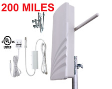 200 MILE Amplified New Concept HIGH GAIN DIGITAL HD TV UHF VHF DTV 44 dB ANTENNA