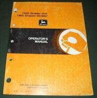 JOHN DEERE 740G SKIDDER 748G GRAPPLE SKIDDER OPERATION & MAINTENANCE BOOK MANUAL