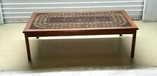 Vintage Coffee Table Cool Tile Top Denmark Signed Toften Hollywood Regency Table