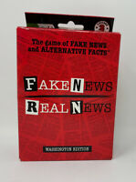 Fake News Real News-Washington Edition Family Card Game By License 2 Play NIB