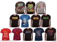 OFFICIAL Marvel Character Superhero T Shirts Avengers Spider Man Hulk Thor Iron
