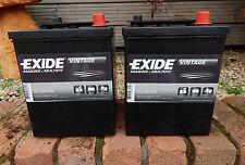 2X Brand New Exide 421 6 Volt 80 AH 600 CCA Classic Car Battery Batteries MG TA