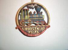 Locomotive 1975 Hallmark Christmas Ornament Rare Find Near Mint