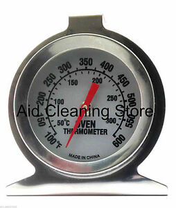 Stainless Steel Oven Cooker Thermometer Temperature Gauge Quality 300ºC , 600ºF