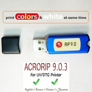 New AcroRIP White ver 9.0.3 RIP software with Lock key dongle with box for Epson