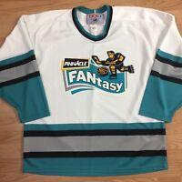 Pinnacle Fantasy NHL Hockey Jersey XL CMM San Jose Sharks VTG 90s Trading Card