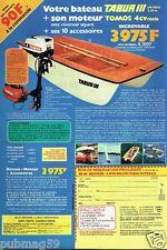 Publicité advertising 1978 Bateau Tabur III et son moteur Tomos 4 CV