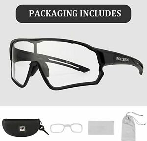 ROCKBROS Cycling Full-frame Photochromic Sungalsses Outdoor Sports UV400 Goggles