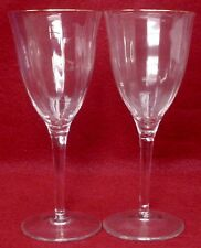 """GORHAM crystal LAURIN GOLD pattern WINE GOBLET Glass 7-1/4"""" set of TWO (2)"""
