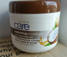 Avon Care Coconut Oil Restoring Moisture Cream,Face, Hand & Body 400ml - New