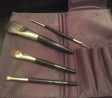 Laura Mercier 4 Piece Makeup Brush Set With Case Value $49