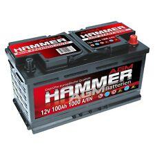 Hammer 12V 100Ah 1000A/EN AGM Autobatterie für Start Stop absolut Wartungsfrei