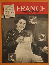 FRANCE magazine numéro spécial 128 du 22/1/1950-Layette-Broderies-Ouvrage dames