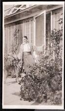 VINTAGE PHOTOGRAPH 1935 WOMAN GIRL GERMAN SHEPHERD DOG SOUTH CAROLINA OLD PHOTO