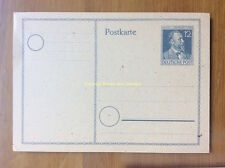 EBS Germany 1947 Allied Occupation Postal Card Heinrich von Stephan P 965