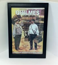 Quilmes Beer From Argentina Framed Advertising Poster Argentine - NEW!!!!!!!