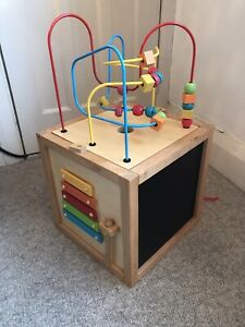 Mothercare 5 In 1 Wooden Activity Cube For Baby And Toddler - Great Condition