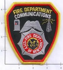 New York City NY Fire Dept Communications Fire Dept Patch Black - Background