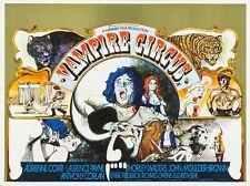 """VAMPIRE CIRCUS 1972 repro UK quad poster 30x40"""" Hammer Horror FREE P&P rare"""