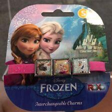 Disney Frozen 3 Charms Pink Bracelet Nordic Olaf Elsa (Set of 2) Party Favors