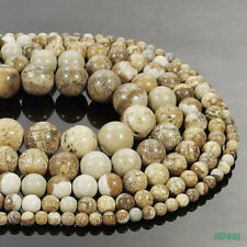 African Queen Picture Jasper Round Beads 15.5'' 2mm 3mm 4mm 6mm 8mm 10mm 12mm
