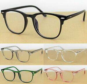 Unisex Classic Retro Timeless Frame Glasses Plastic Frame UV400 Blue Light Block