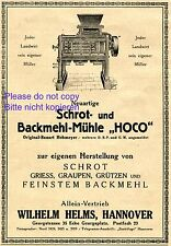 Flour mill Hoco German 1920 ad Helms Hannover advertising