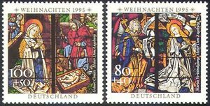 Germany 1995 Christmas/Greetings/Nativity/Stained Glass/Art/Craft 1v (n42605)