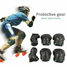 Us Stock 6Pcs Roller Skate Skateboard Knee Elbow Wrist Protective Guard Pad Gear