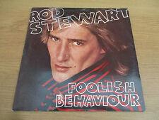 ROD STEWART - FOOLISH BEHAVIOUR Vinyl LP Album UK 1980 Classic Rock RIVA RVLP 11